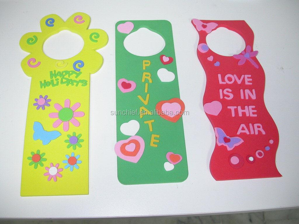Diy Foam Door Hanger Kits View Decorative Door Hanger Chief
