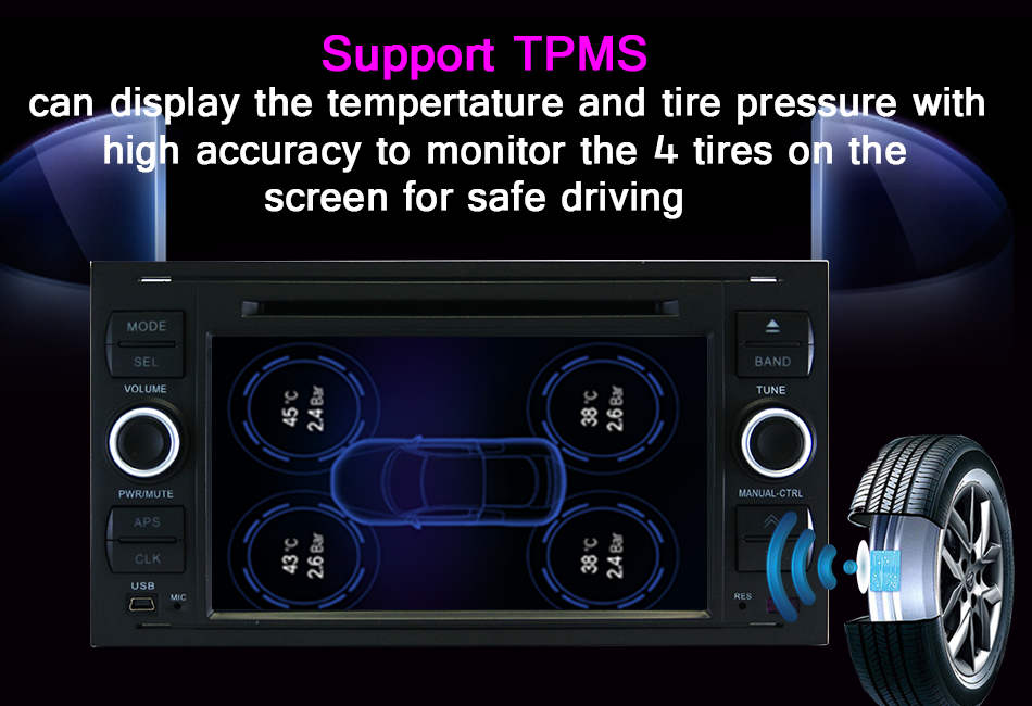 2 din in dash car dvd gps stereo for ford fiesta may keo 5000 spare parts rear cam dab+ tpms dvb-t car radio dvd for ford
