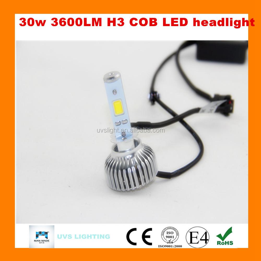 High Power Headlight H3 6v Led Bulb 12v 40w 4800lm All In One Car ...