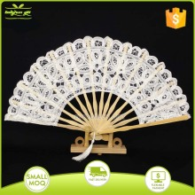 bamboo wedding invitation lace hand fans for dance