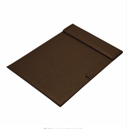 High quality leather A4 customized logo writing pad