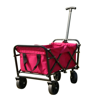 SN-H-075  High quality small 4 Wheels Collapsible Folding Outdoor Utility Wagon Cart