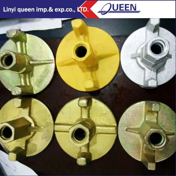 Round Type Formwork Anchor Nut Wing Nut 2 Wings