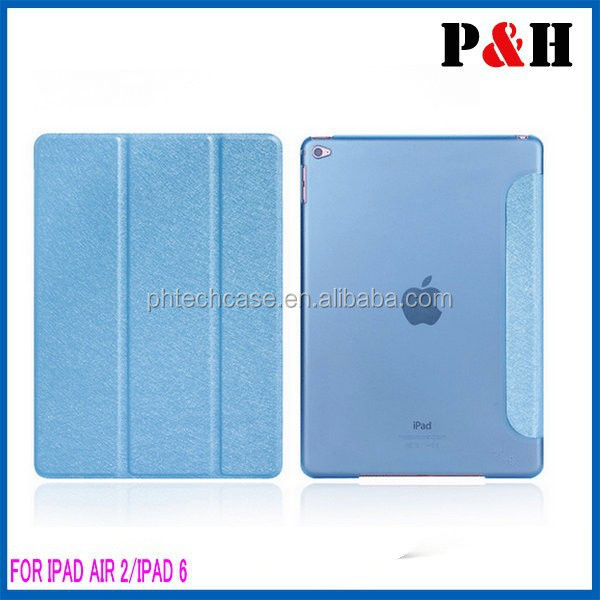 Tri-folding Tablet Cover For ipad Air 2 Leather Case