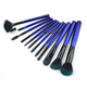 Synthetic Hair Makeup Brush Private Label Make Up Brushes Wholesale blue 12 pcs makeup brush set