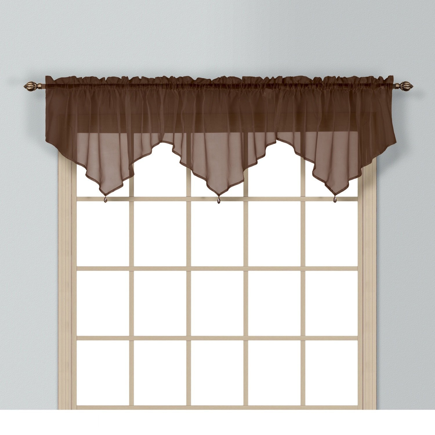 home chocolate austrian curtain kitchen inch by com united ascot valance dp amazon anna