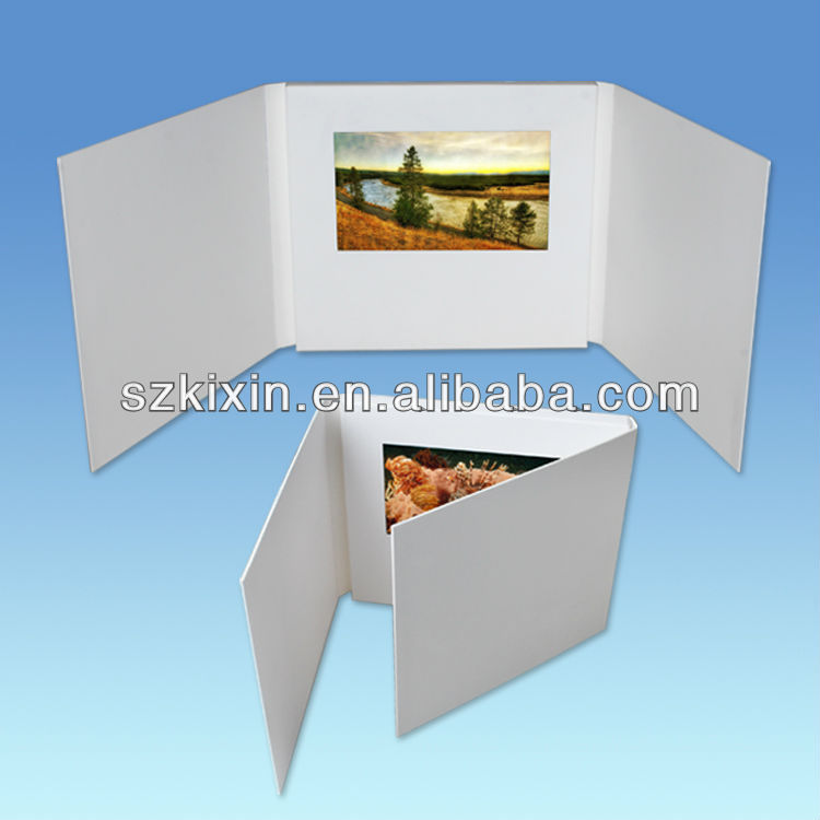 4.3 inch multi page video greeting card