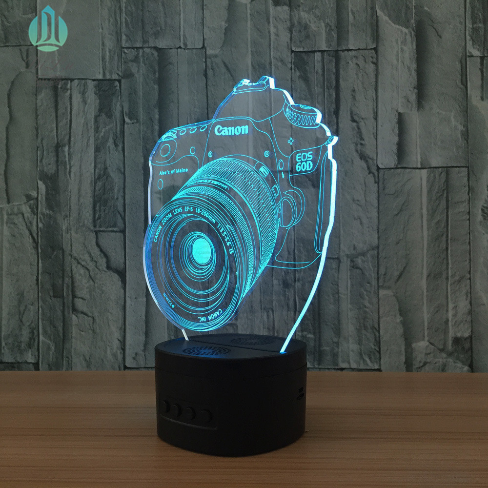 2018 Newest Design 3D illusion novelty small USB LED glow light lamps