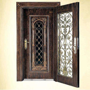 Cast aluminum door main entrance door metal door