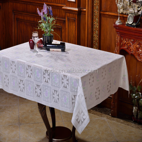 "54"" Printed PVC Lace Table Cloth roll vinyl table cloth"