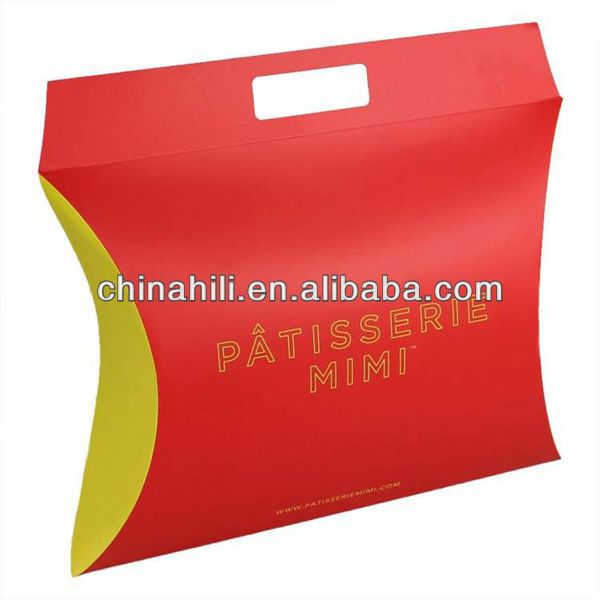 China Manufacture High quality OEM printing paper plastic custom pillow gift box