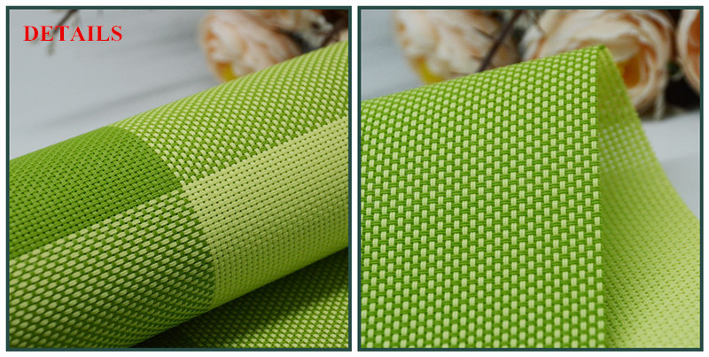 Groene kleur placemat vinyl plastic roller materiaal restaurant eten
