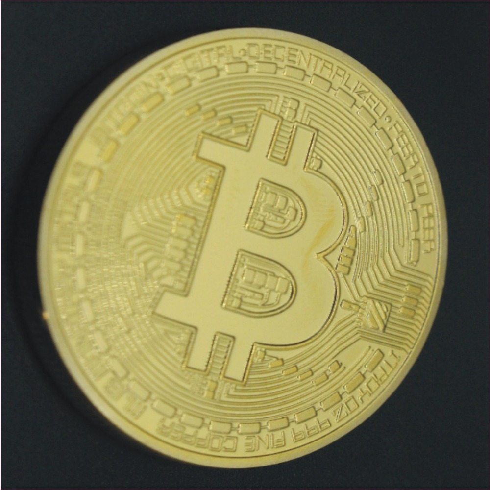 <strong>iron</strong> and brass bitcoin coin