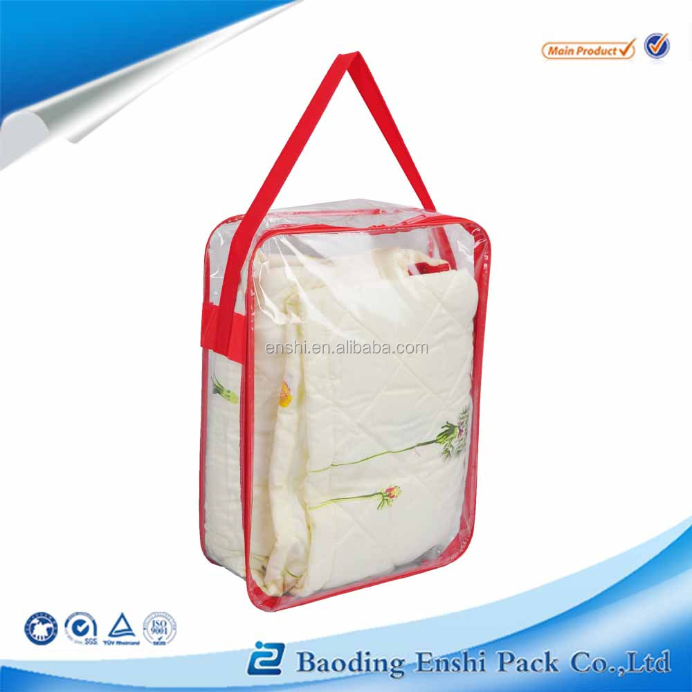 innovative product bedroom non woven storage Quilt bag with zipper