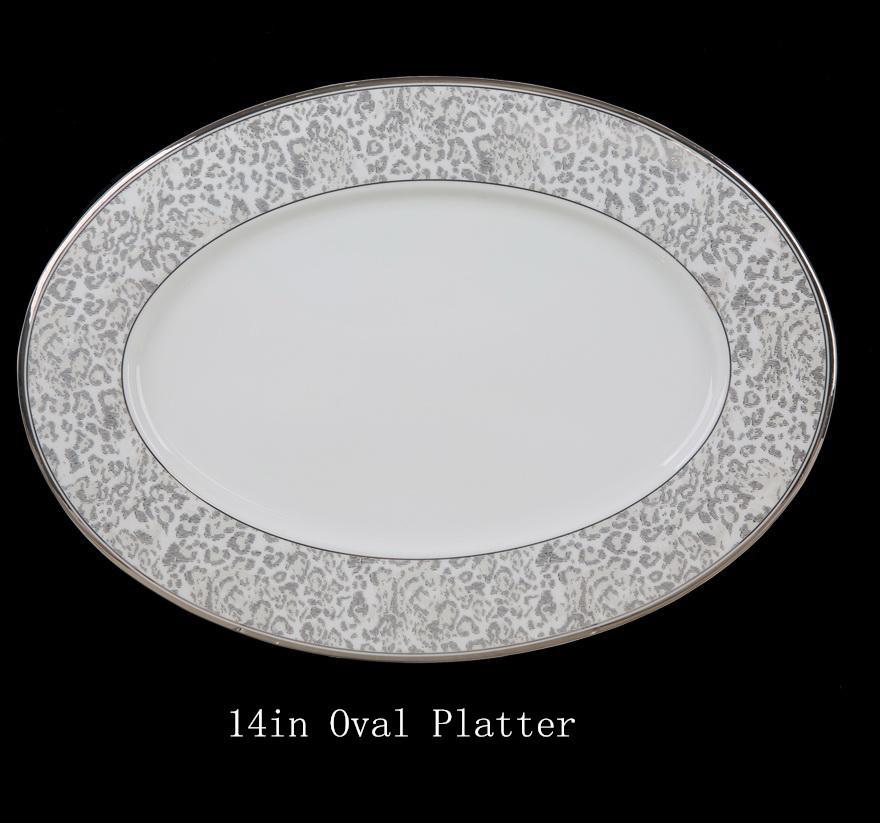 Bone China Ceramic Dinnerware Set With Anial Print Design