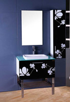 Modern Chinese Style Laundry Sink Cabinet Combo for Bathroom Vanity with Mirror