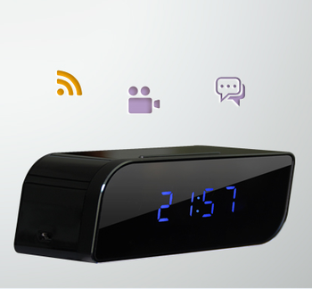 New Wifi Hidden Clock Camera Adorable Desk Alarm Clock with Night Vision