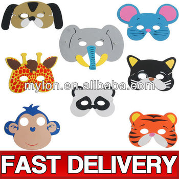 Kids Eva Foam Animal Face Masks Zoo Nature Fancy Dress Up Costume - Buy  Kids Eva Foam Animal Face Masks Zoo Nature Fancy Dress Up Costume,Eva Foam