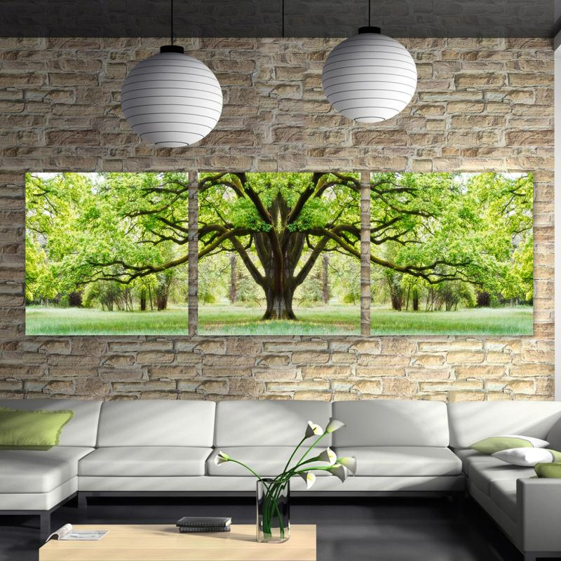 3 Pcs Hot Sell Large tree Modern Home decoration Wall Decor oil painting Canvas Art HD picture free shipping No frame RM-ZH-027