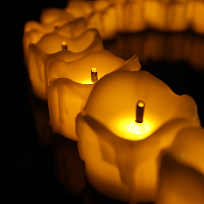 Top Selling Yellow Flameless Feature Led Candle Light ,Christmas Candle With Black Wick