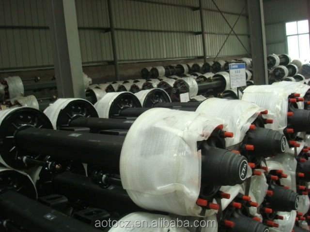 2015 high quality 12t 14t 16t bpw trailer axle for argo bogie suspension