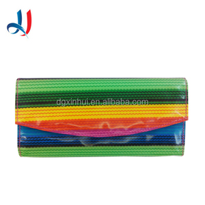 Guangdong Manufacture Unique Designer Waterproof PU Leather Lady Clutch Purse Wallet with Carder Holder
