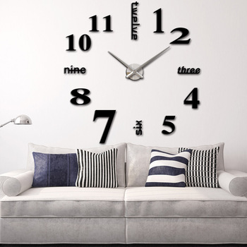 Diy Large Watch Wall Clock Modern Design Stickers Mirror Effect Acrylic Gl Decal Home Decoration Relogio De Parede High Quality Decorative