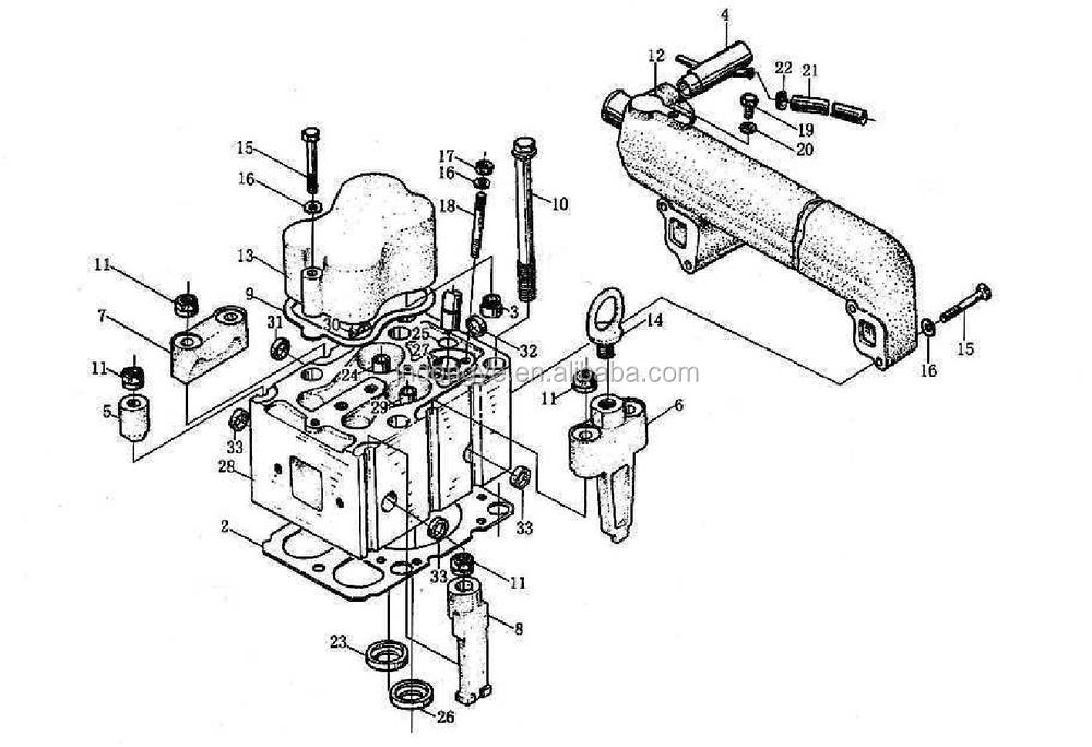 Wd615 Engine Cylinder Head Gasket Wg1500040049