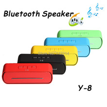 2014 NEW Super Bass Speakers Y8  Bluetooth Hifi Support USB Flash Driver FM TF Card Wireless Hands-free Samsung S5 Note4  M8