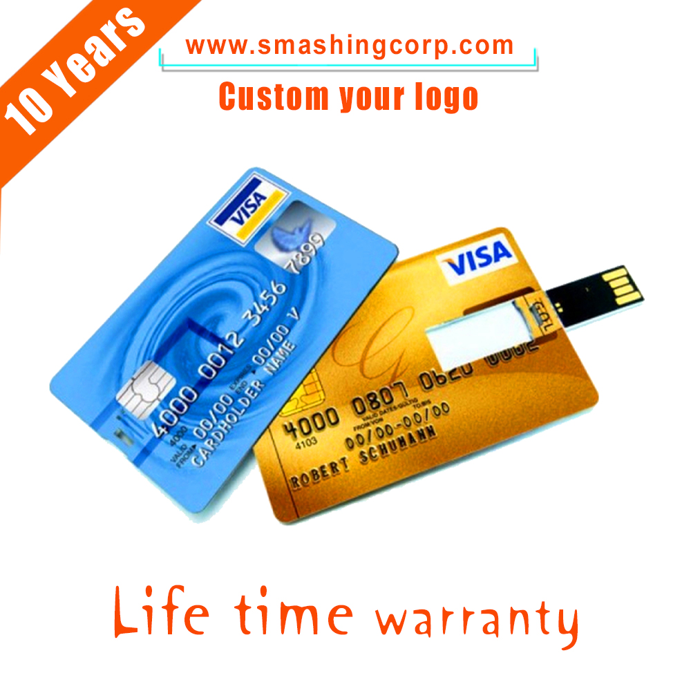 custom logo plastic 4gb usb business credit card usb flash drive usb flash drives bulk cheap