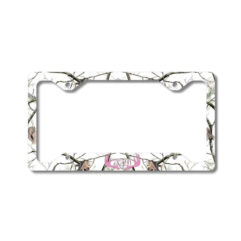Buy Camouflage License Plate for Deer Hunter Personalized Mirror Car ...