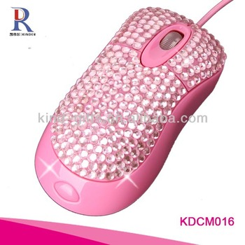 christmas decoration bling rhinestone computer mouse