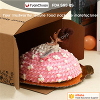 recycled corrugated paper birthday cake boxes