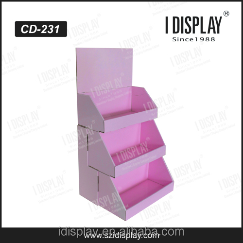 Wholesales professional factory price retail store 3 tiers cardboard counter display racks