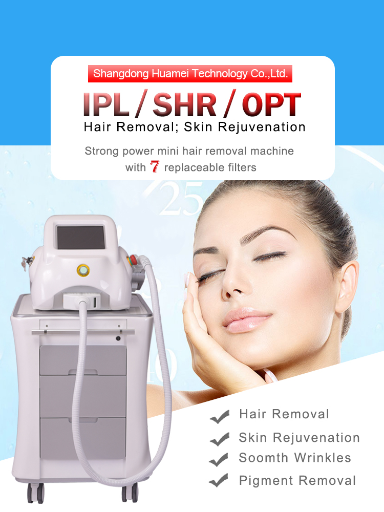 Top rated huamei professional beauty salon equipment ipl machine foto epilator