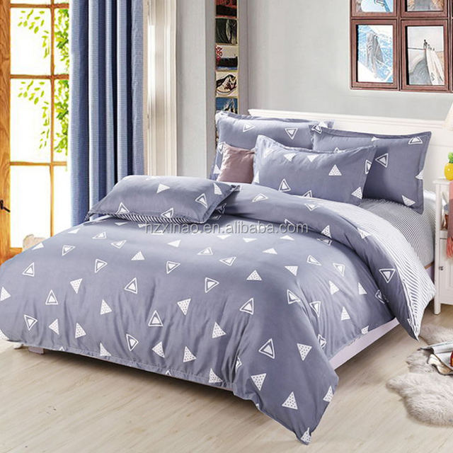 Home Super Cheap Polyester Bed Sheets Cartoon Print Bedding Sets