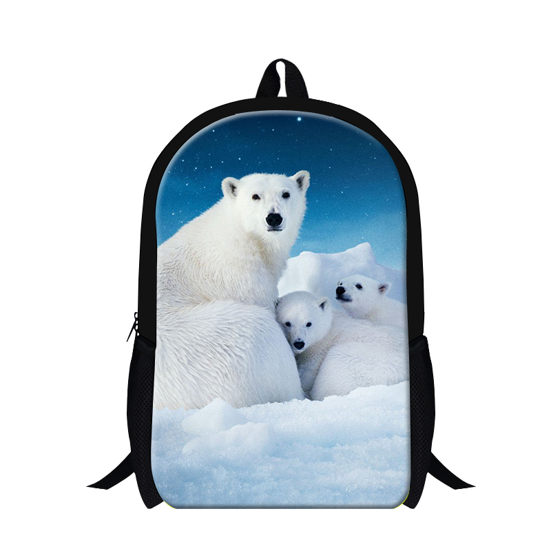 5c1a37ea0822 Buy 2015 New Design Children Zoon Animal School Backpack 3D Polar Bear Print  School Bags Cute Girls Bear Shoulder School Book Bag in Cheap Price on ...