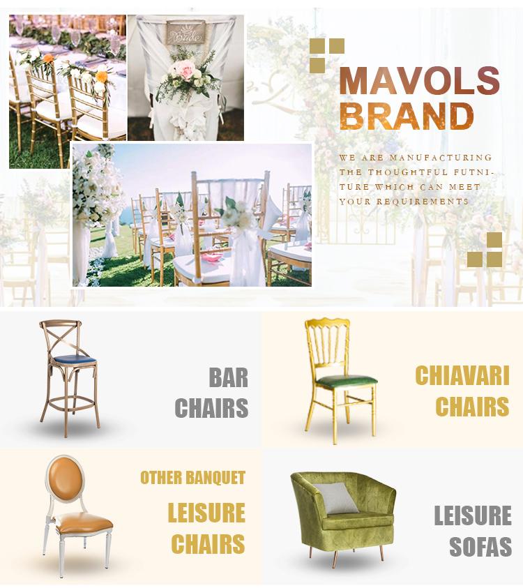 बिक्री के लिए चीन कारखाने थोक एल्यूमीनियम chiavari शादी कुर्सियों