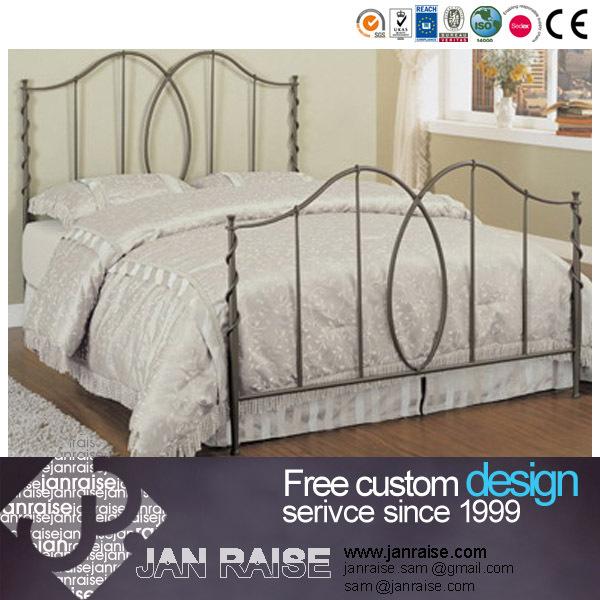 bedroom furniture modern design double bed steel bed metal