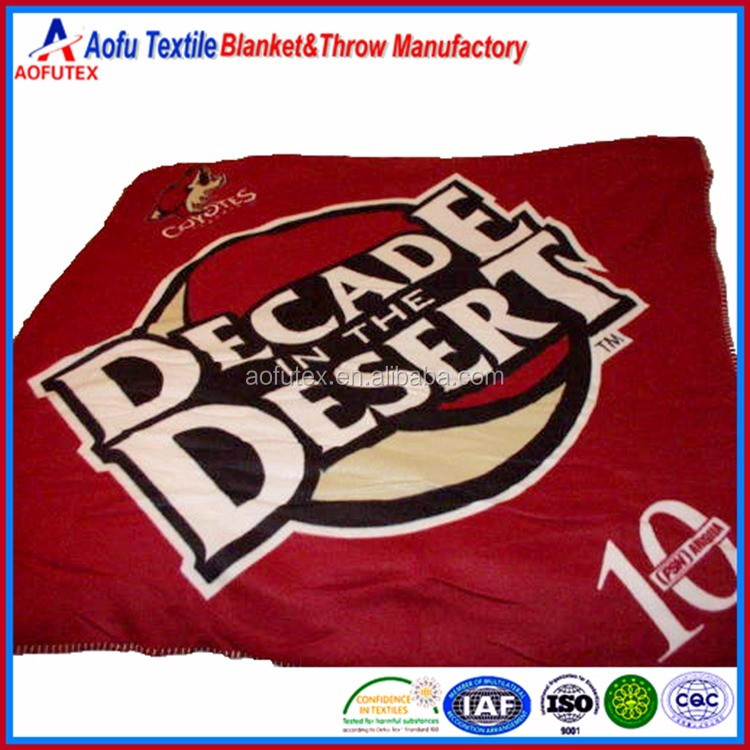Promotional Phoenix Coyotes Decade In The Desert offset printing / print Throw Blanket
