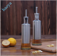 Glass Olive Oil Bottles with Stainless Steel Discharge Spout
