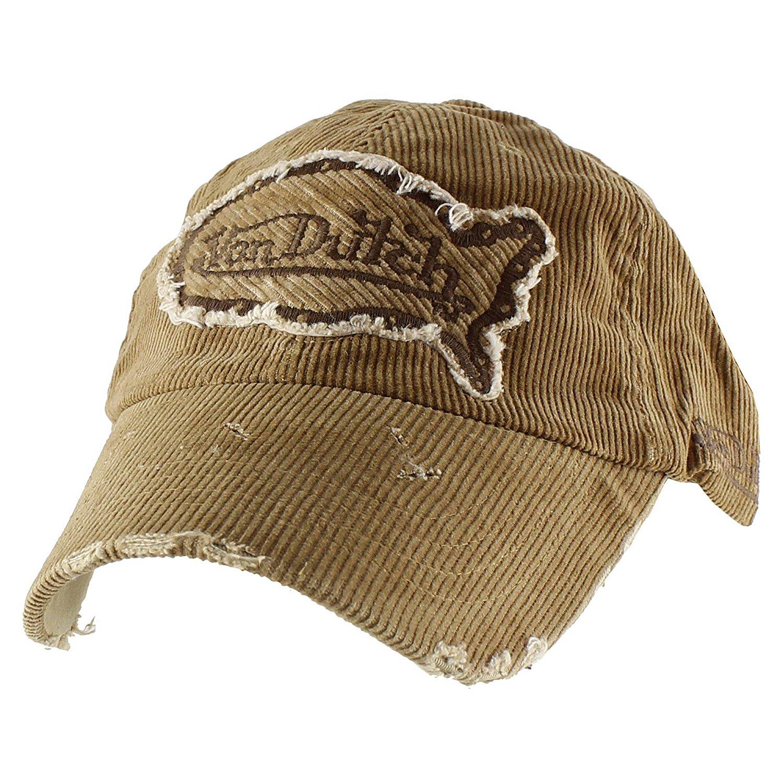 098ab21a639 Get Quotations · Authentic Von Dutch Vintage Corduroy Baseball Cap Cotton  Adjustable Hat