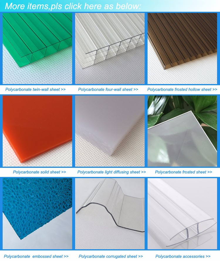 Wholesale ge lexan polycarbonate sheet manufacturers for office buildings-1