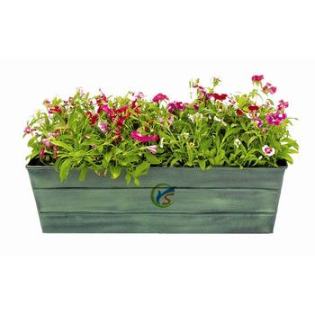 Galvanized Tin Square Window Large Indoor Plant Pots - Buy Indoor ...