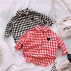 Boys and girls baby clothes 2018 autumn and spring new plaid long-sleeved lapel shirt infant casual clothing