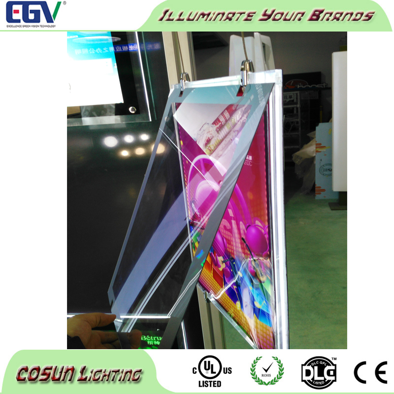 high quality led sign light box poster frames acrylic materials