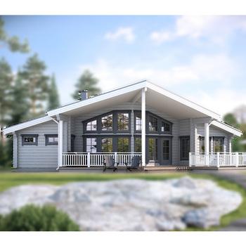 The Latest House Design Single Floor Wooden House DYD153