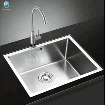 Factory Price Top Mount Drop in Sus304 Stainless Steel Single Bowl