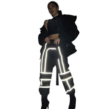 Wholesale <strong>Women</strong> Sport <strong>Pants</strong> Casual Fashion Street Ladies Reflective Cargo <strong>Trousers</strong>
