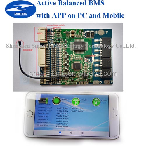 Active Bms With App On Pc/mobile Lifepo4 16s Bms 60v 20a ...
